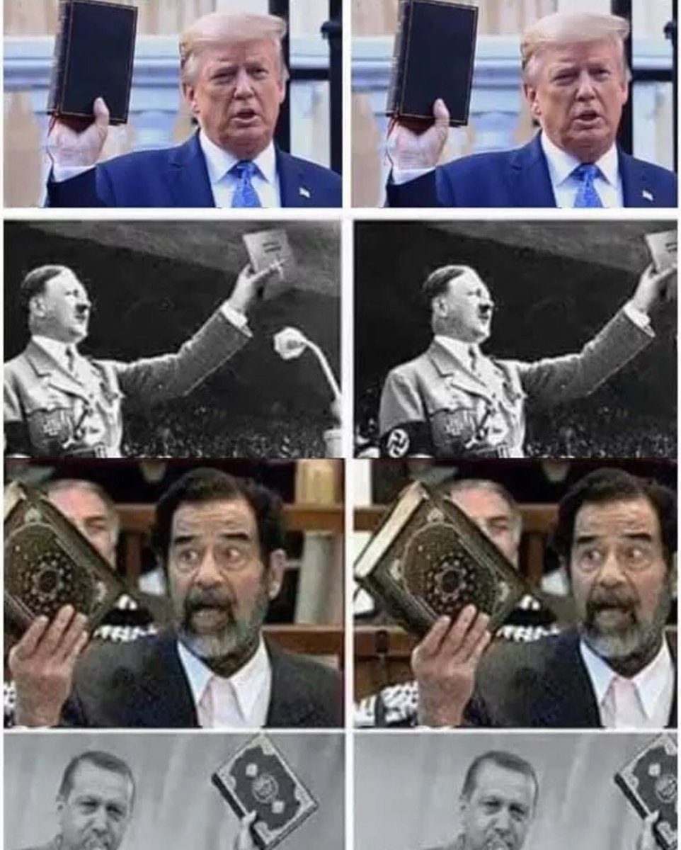 You knew this meme was coming when you saw him with that upside down backwards Bible in front of the church he didn't even step foot in...right? #Tyranny