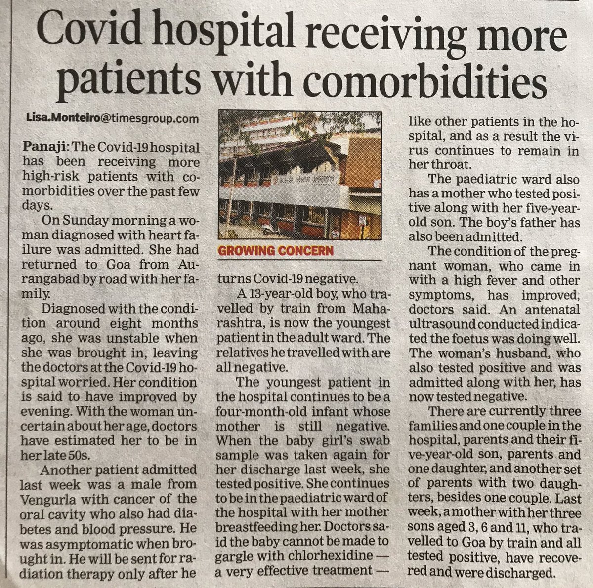 Our #Doctors & #HealthcareHeroes at #Covid_19 #hospitals are carrying out an onerous task.  #ThankYou all for selflessly serving the #State & #Nation at this crucial juncture.  @GoaGmc @visrane @goacm @DrPramodPSawant https://t.co/8QVfnp1CK0