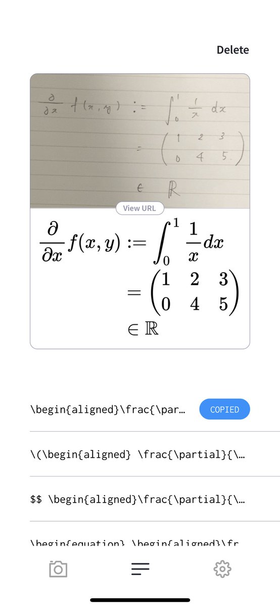 あーあ、文明の利器みつけちゃった手書きの数式 → LaTeX表記 → クラウド同期でPCで表示これで課題が捗っちゃうな〜〜(棒)
