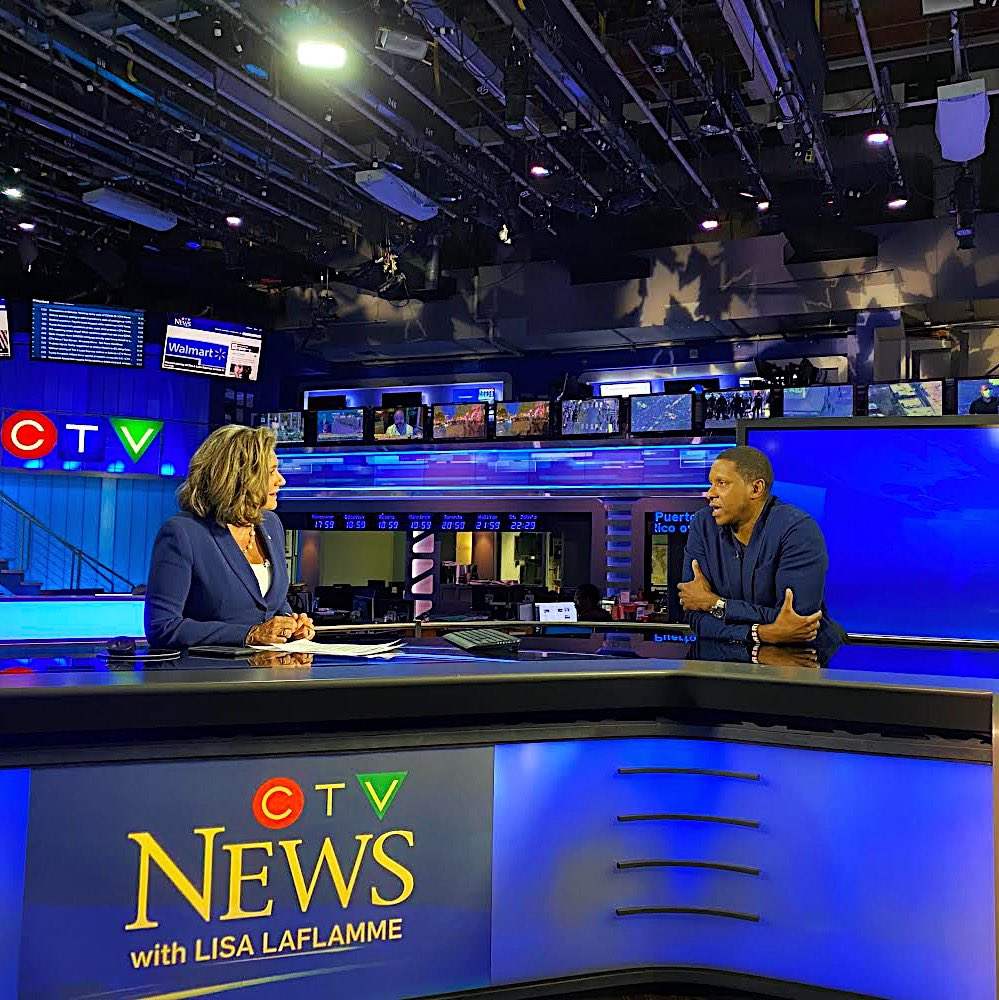 """""""It's time for all of us to think about this - where is all this coming from? Let's talk about it now. Let's not sidestep it."""" Masai in conversation tonight with @LisaLaFlammeCTV on @CTVNationalNews"""