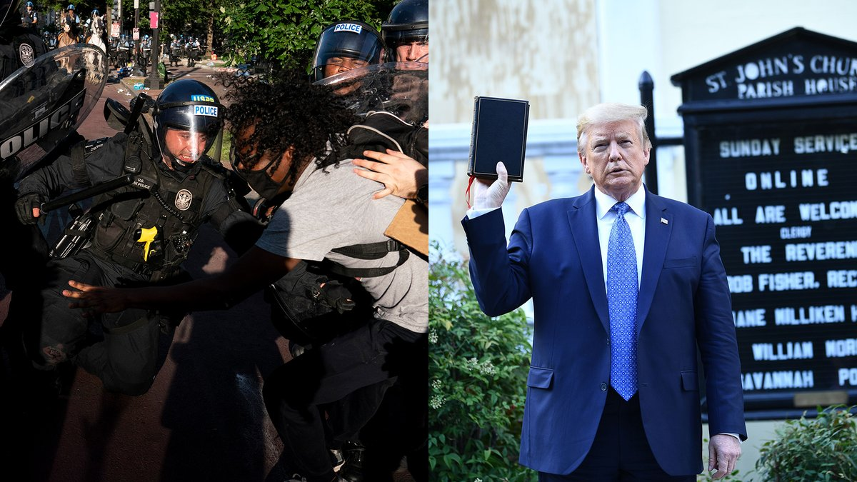 Trump tear gassed peaceful protesters so that he could create a bad photo op