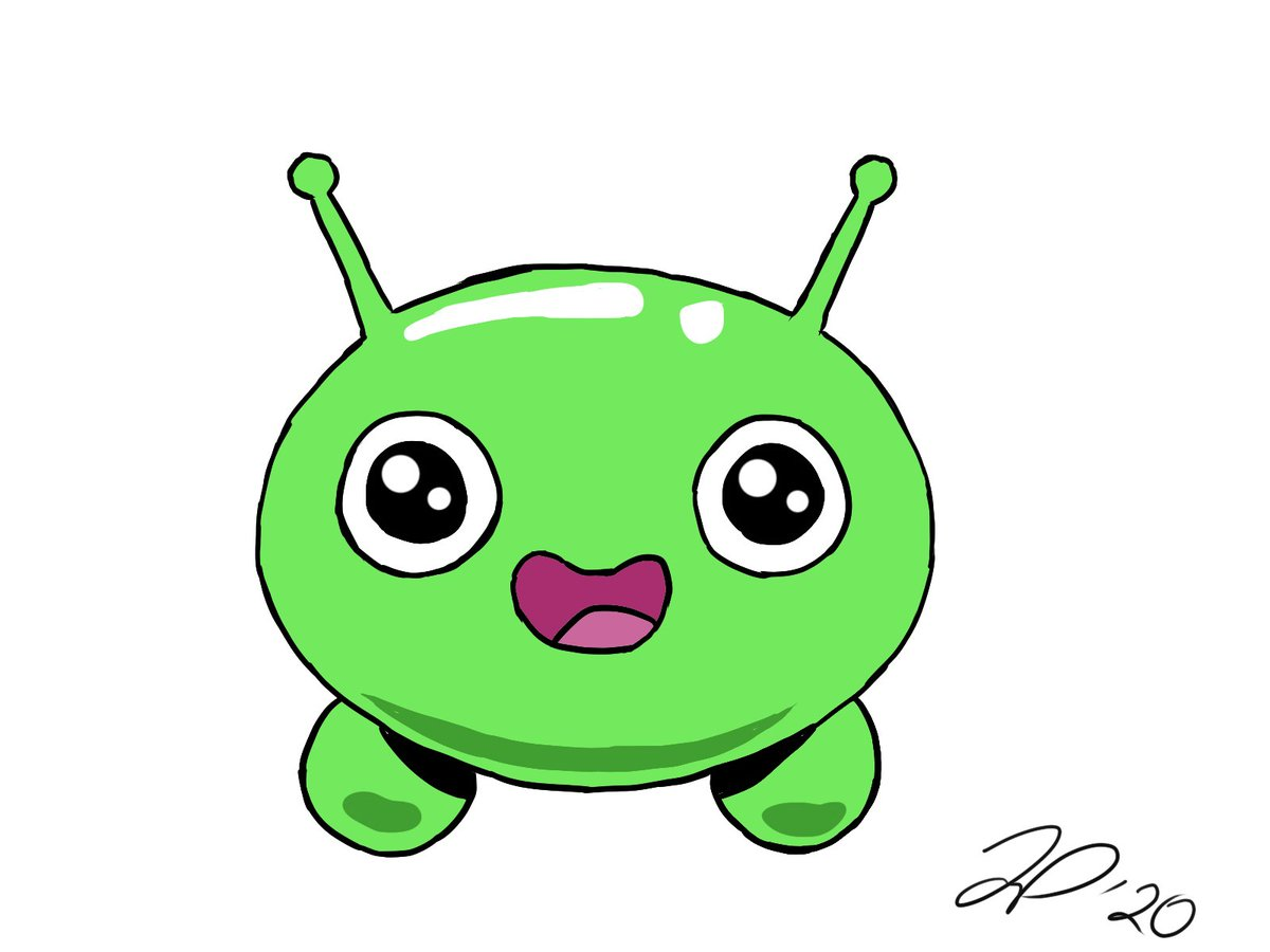 Day 39: Still trying to work on highlights and shading. Decided to try my hand at drawing Mooncake from Final Space. #draw #challenge #createpic.twitter.com/gqs7yEXbqa