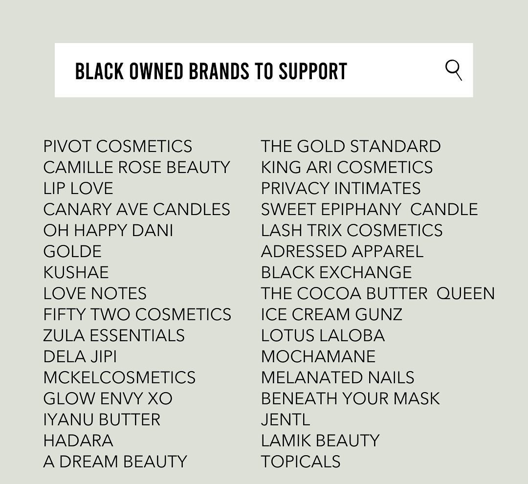 32 Black Owned Brands to support! #BlackWomenInBusiness #WomanOwned #Beauty #Cosmetics #Fashion #ClothingBrand #Vegan #Skincare #Lingerie #Candles #DairyFreeIceCream #BlackOwned #BlackOwnedBusiness #BlackEntrepreneur pic.twitter.com/EotteK6CZ6