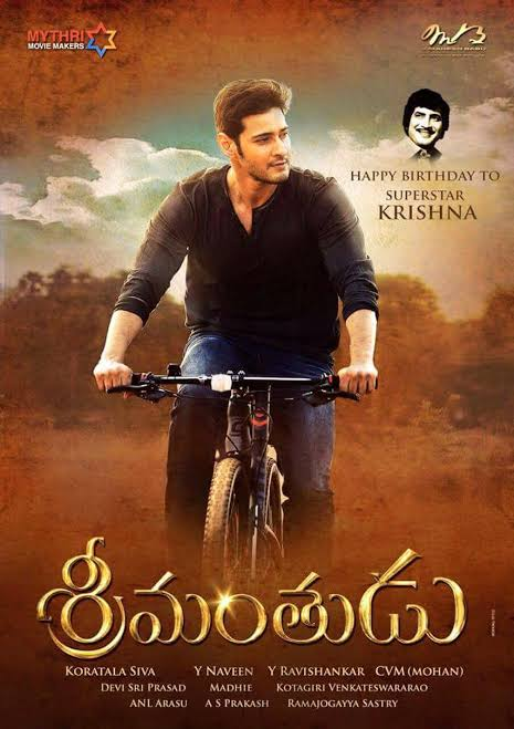 Watch Superstar @urstrulyMahesh #Srimanthudu film  Today @ 9am on Zee Cinemalu   #SarkaruVaariPaata https://t.co/k8izhHPbGi