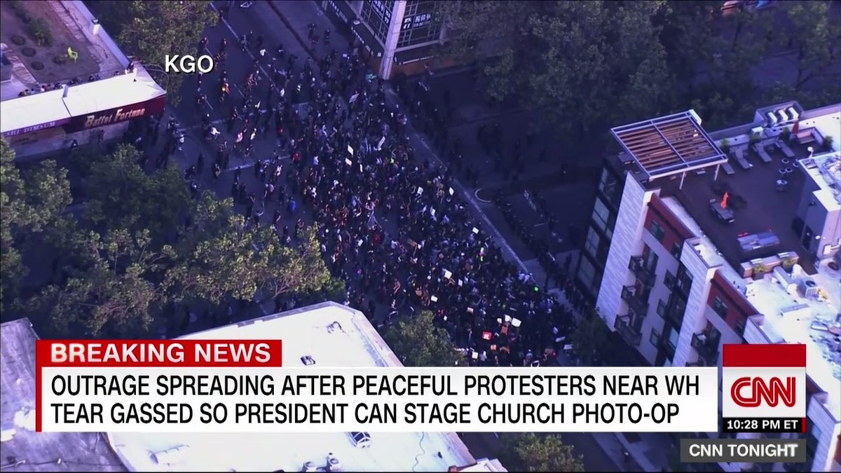 """St. John's Church rector Rev. Robert Fisher says seeing President Trump visiting the church """"as a backdrop really caught me by surprise. ... It troubles me deeply that people were removed from a peaceful protest right on our square by tear gas."""" https://t.co/8MYe8459gg https://t.co/SmOYsHmn8U"""