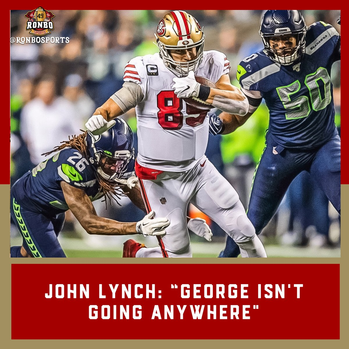 """George isnt going anywhere, Were going to work hard to try to get it done. I think theyve got motivation just to reset the tight end market, as do we for him. Its just finding that sweet spot, where that is.""""#49ers GM John Lynch sportingnews.com/us/nfl/news/ge…"""