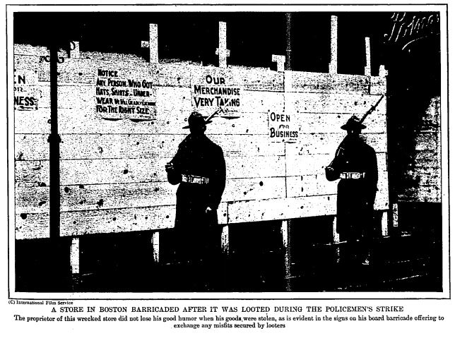 Humorous response to looting in Boston, photo repr. in The Outlook, Oct. 1, 1919 https://t.co/G00oBgcthj