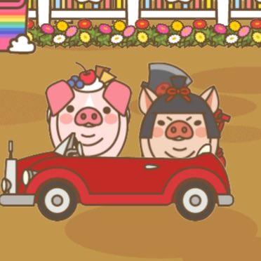 【ようとん場MIX】本格豚育成ゲーム 豚を育てて出荷しよう #ようとん場MIX #yotonmix美味しいそうな、デザート乗せた🐷ちゃんとマサカリ担いだ金太郎🐷ちゃんになりました✌️😁😁
