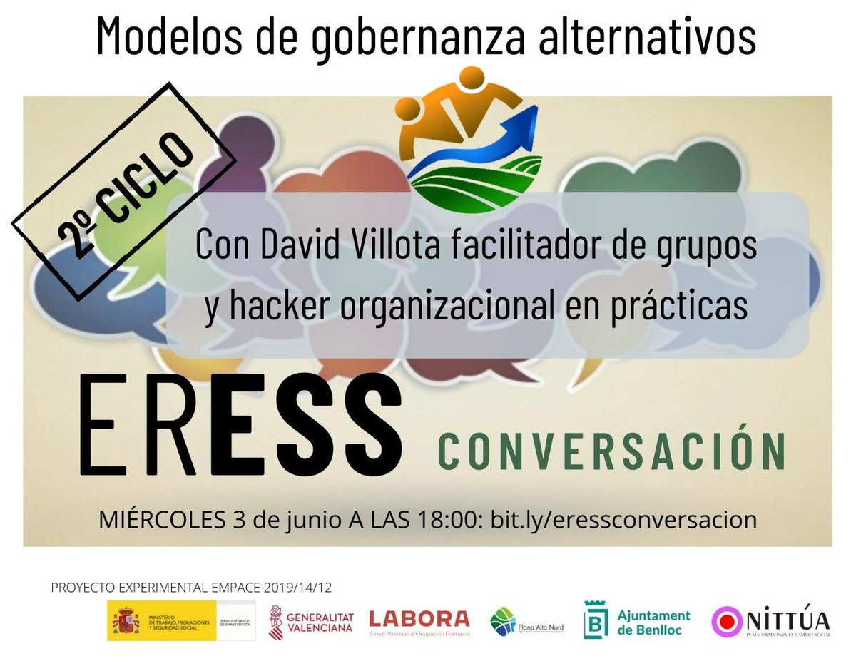 Mañana conversaremos sobre modelos de gobernanza en #ERESSCONVERSACION a las 18:00 en https://t.co/ckU3lLwOLe https://t.co/XZhU5wfgWb