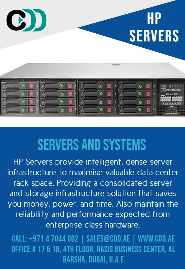 HP Servers provide intelligent, dense server infrastructure to maximise valuable data center rack space. https://www.cdd.ae  #Technology #technologytrends #technologysolutions #digitalsolutions #businesstechnology #technologyinnovation #ICT #businesssolutions #hp #serverpic.twitter.com/OKNohfmfzf