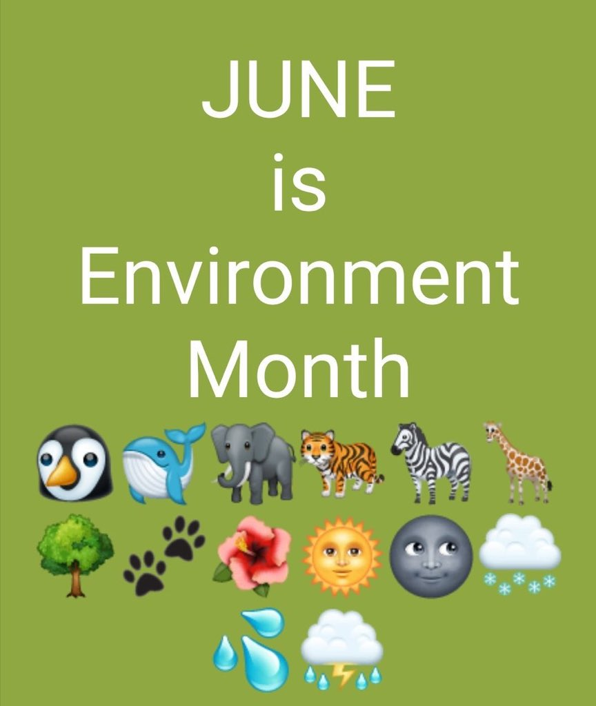 An important day in the World Calendar this week is #WorldEnvironmentDay.  Perhaps now more significant than ever as this current #pandemic serves as a reminder of the intimate relationship between humans, animals and the environment.  pic.twitter.com/Fs7ejGnbwy