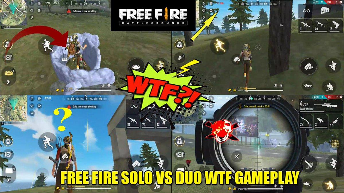 free fire wtf gameplay #freefirewtf #freefireindia #freefireb2k https://youtu.be/Gm0Xx939860pic.twitter.com/udpiKPPef9