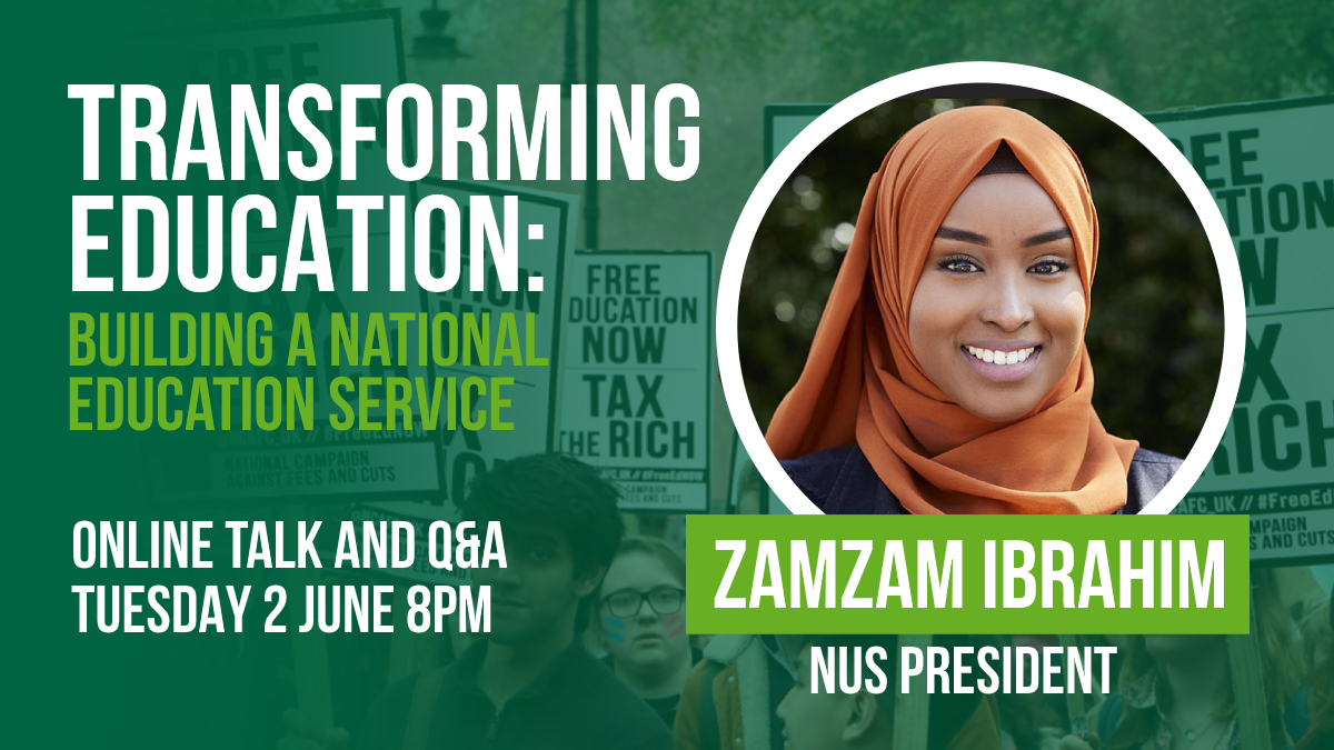 The marketisation of our education system has been disastrous for students and staff alike. But what is the future of free & fair education and how do we fight for it? Join us tonight @ 8pm to hear from @nusuk President @ZamzamMCR on this very question! actionnetwork.org/events/transfo…