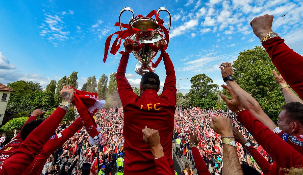 📅 #OTD last year, Liverpool celebrate number 6 🏆  #UCL | #OnThisDay https://t.co/YLbZFQCwJf