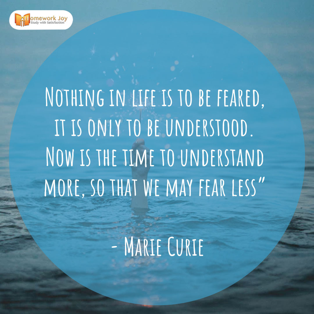 Marie Curie Quotes  Read More :   #life #fear #understand #time #study #EducationMatters