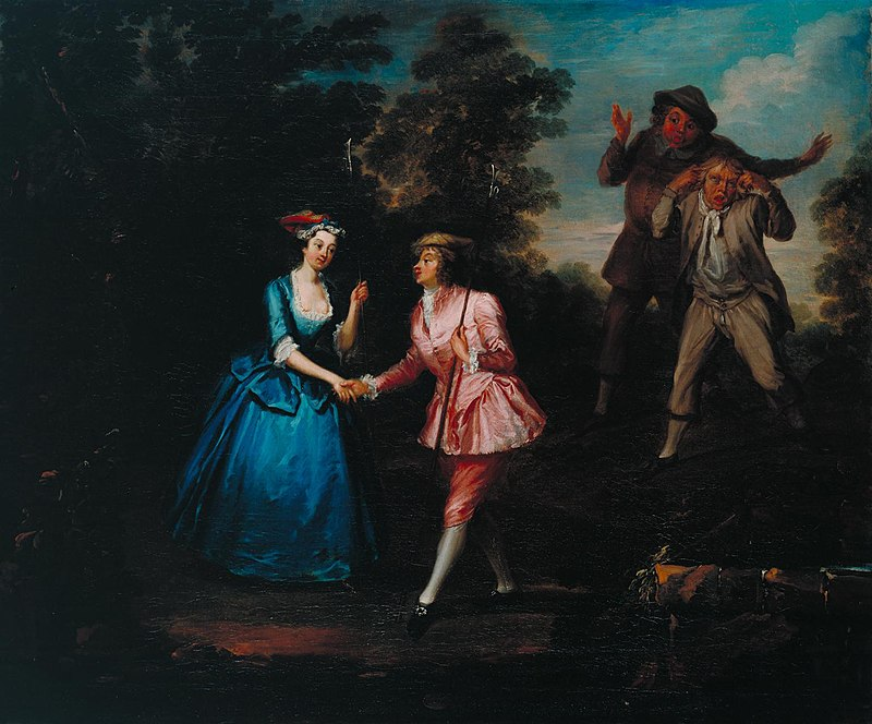 Charlotte Cibber (in pink) found fame playing male roles on stage. After a failed marriage she took to living as a man named Charles Brown off stage too. Charles worked as valet to the Earl of Anglesey and was even wooed by a supposedly unsuspecting heiress! #gloriousGeorgians https://t.co/D3Z4BVQqCL