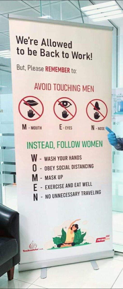 """Farooq Gill 🇵🇰 on Twitter: """"Avoid Touching MEN and follow WOMEN....😷😅 #CoronaIsNotAJoke #CoronaVirusPakistan #CoronavirusPandemic… """""""