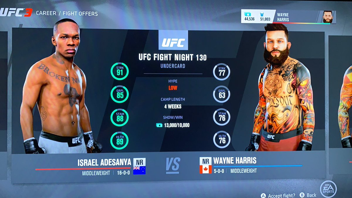 I've had two ufc fights in my new MyCareer and stylebender is offered to me? Confusion #ufc3 #icantfightirl https://t.co/cLRtHX56er
