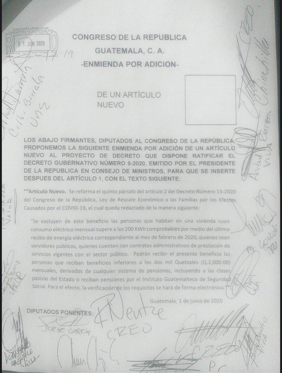 test Twitter Media - Diputados aprueban enmienda para que las personas jubiladas por el IGSS puedan optar al Bono Familia. https://t.co/UZAYHUAz4F