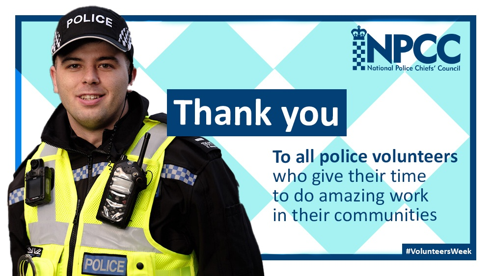 Police volunteers work hard every single day in support of our communities, and this has been especially apparent during the #Covid19 crisis. Thank you all, sincerely. #VolunteersWeek