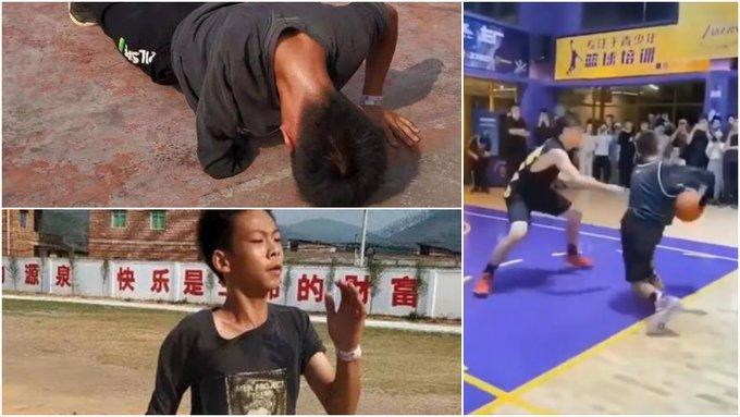 【影片】「獨臂少年」一夜爆紅!13歲的他絕不向命運低頭,或許這就是籃球最初的熱愛!