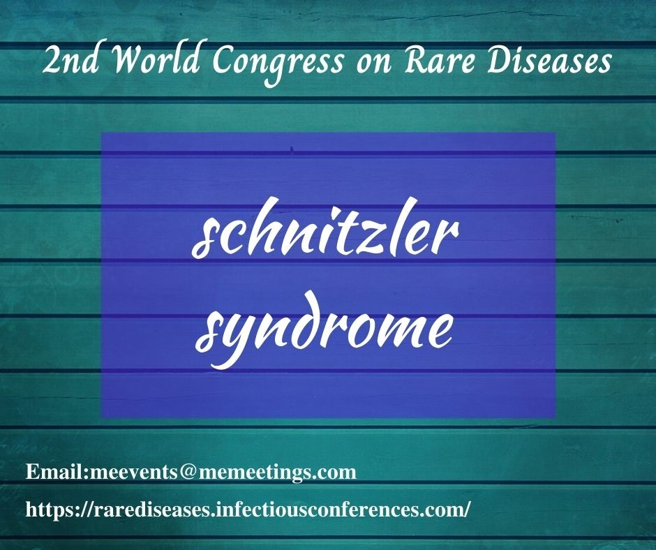 #Schnitzlersyndrome is  #rare and #acquired systemic disease. Clinical features include #Fever  #urticarialrash,  #bone and #joint pain and enlarged #lymphnodes. It is a  group of #inherited diseases #geneticdiseases Email: meevents@memeetings.com Visit: https://t.co/E1EXLj2enW https://t.co/8rDWmRnxzC