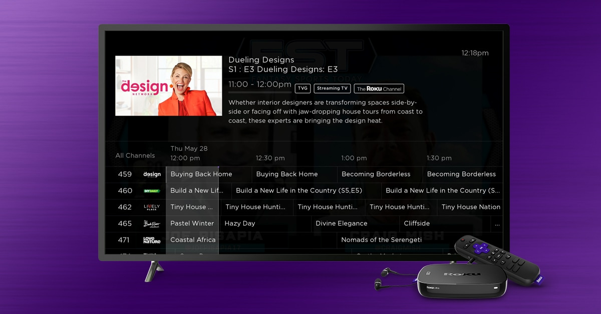 Roku's live guide will help you navigate its free movie and TV channel