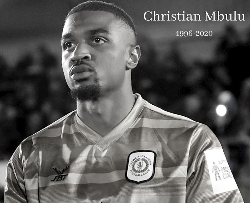 An online fundraising appeal in memory of former Crewe Alex defender Christian Mbulu has reached almost £15,000  He died a week ago, aged 23 (@crewealexfc image) https://t.co/rShbq84TxP