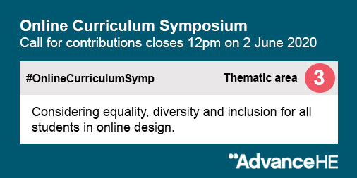 The call for contributions for #OnlineCurriculumSymp closes today at 12pm. Submit an abstract for either a presentation or a workshop at: https://t.co/WOO3Ne0Euy #CurriculumDesign #teaching #learning https://t.co/OJc45dTGMd