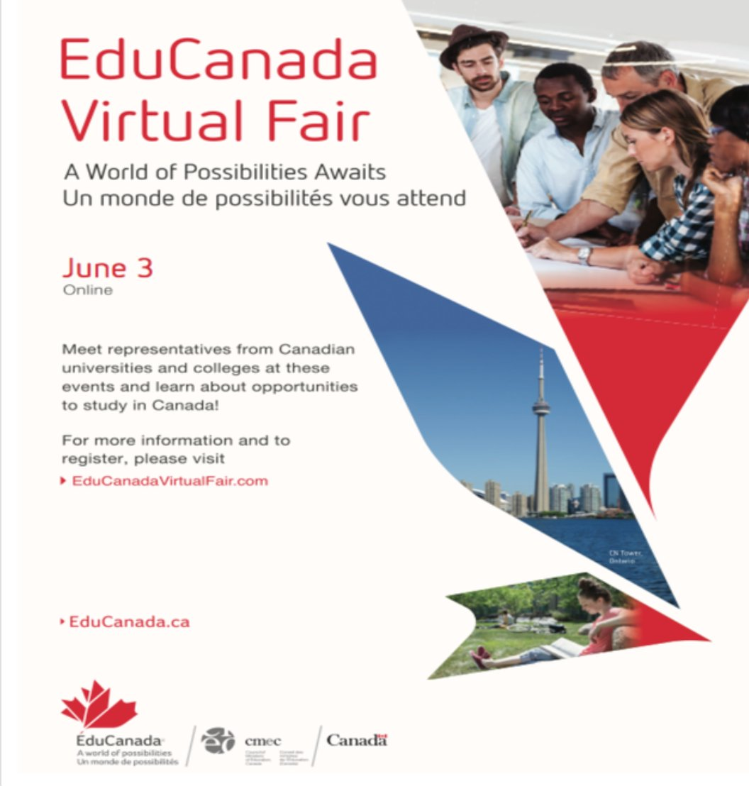 A virtual college fair is up for Canadian Universities!