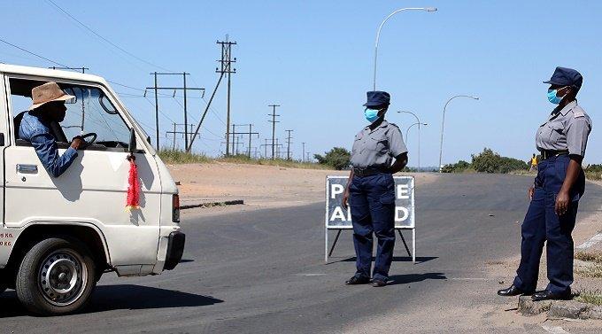 Road block COVID Zimabbwe