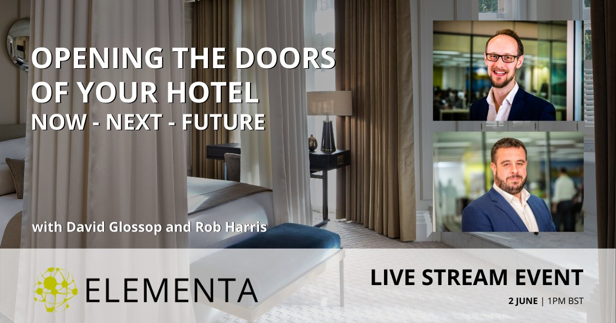 Today at 1pm.  Join principals David Glossop and Rob Harris, as they discuss strategies addressing the now, next, and future challenges facing the hotel industry.  Register for free here: https://bit.ly/3dY8CBF   #HotelIndustry #EngineeringInsights #PostCOVID19pic.twitter.com/dRH7EYpwP4