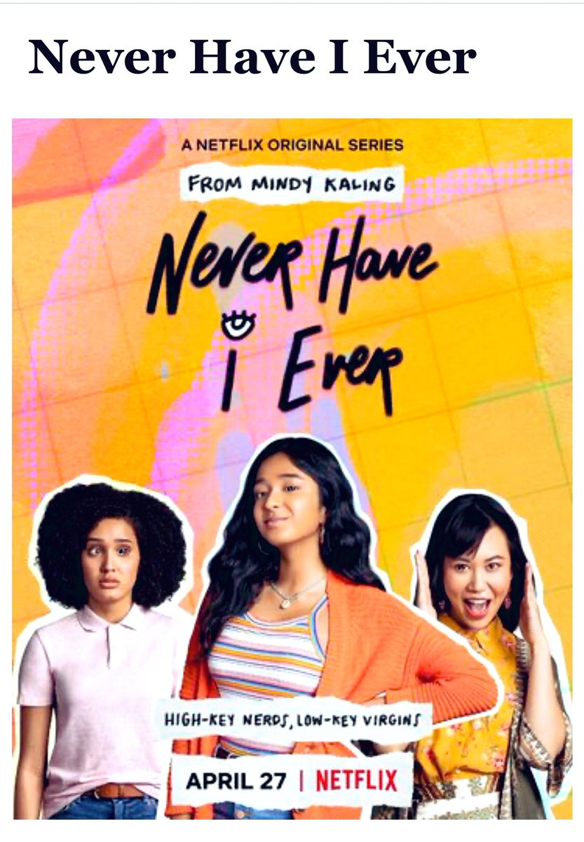 Never Have I Ever (2020)  @netflix   Teen Drama Angst with Indian Vibes  I don't normally watch series because they are a commitment and I don't like to get sucked into binge watching but one thing is for sure:  Never Will I Ever watch Series 2   #bollywoodmovies #NeverHaveIEverpic.twitter.com/sA4kOMJX6l