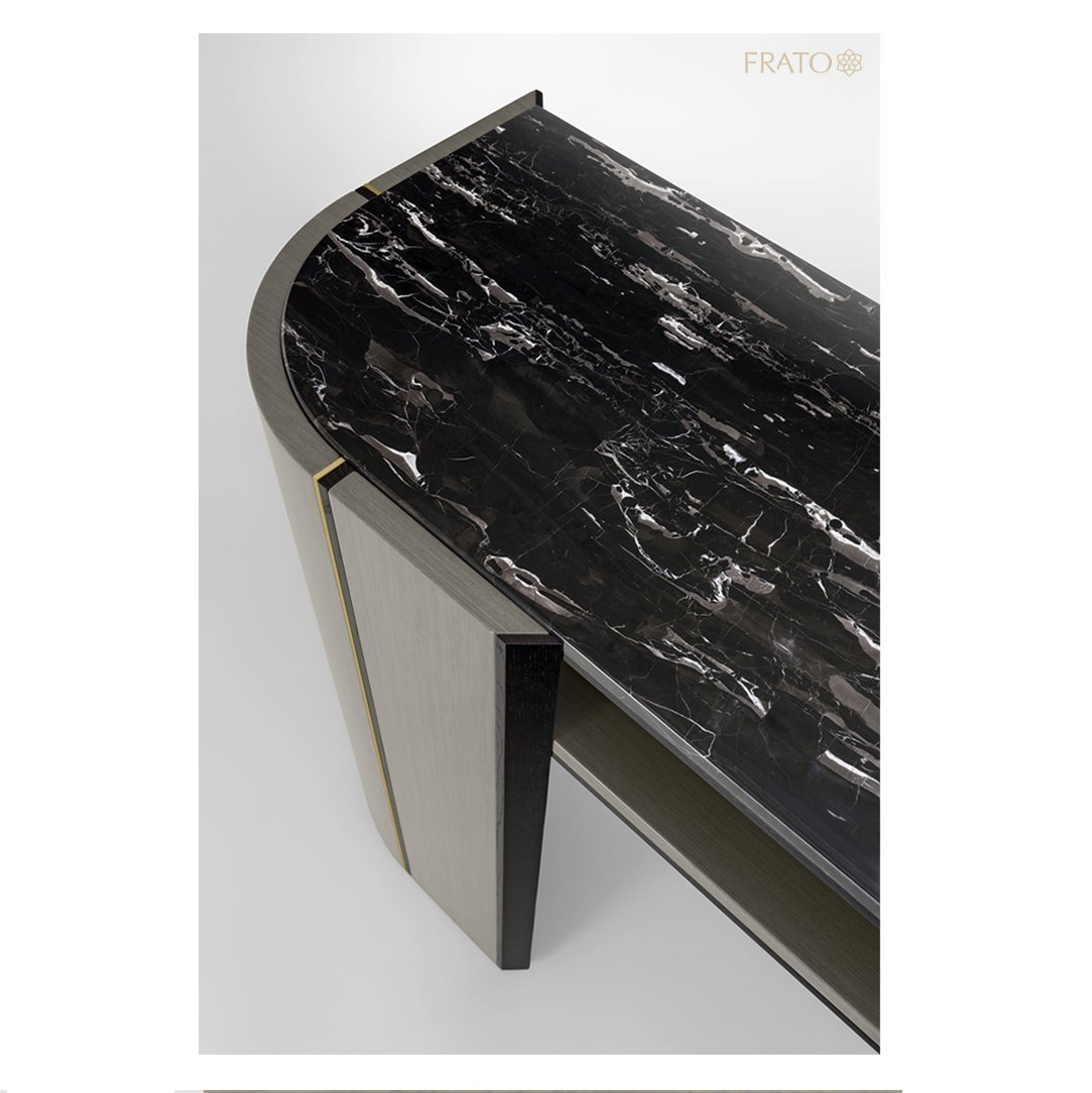 Add some monochromatic drama to your interior with the striking OKAYAMA #console, which features beautiful black stone run through with a rich white vein.  #frato #harrods #thedubaimall #interiordesign #designinspiration #home #residentialdesign #designcentrechelseaharbourpic.twitter.com/XVlyRTHEeu