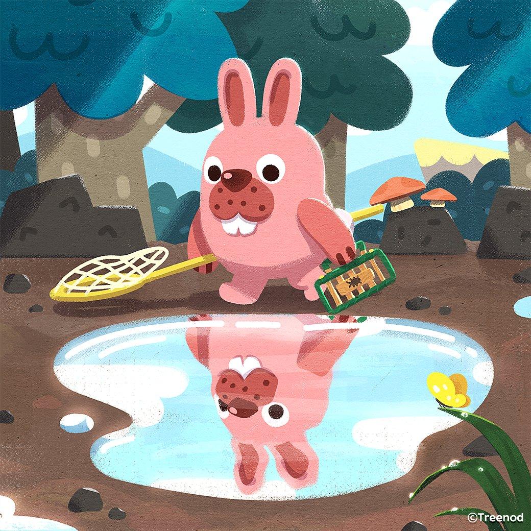 水たまりポコタ元気か?今日もかっこいいな~ - Hi Pokota in puddle~ You look great today too~  #ポコタ #ポコパン #水たまり #雨上がり #puddle #pokota #pokopang https://t.co/W0AnmqOvQW