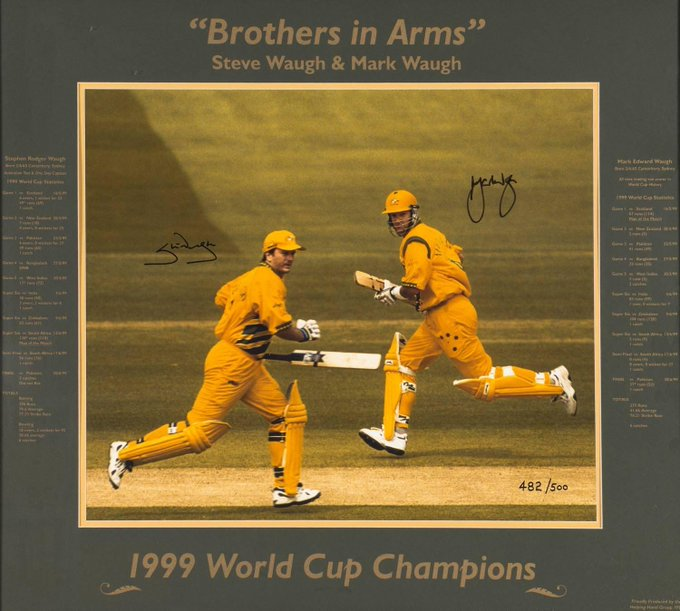 Happy 55th Birthday Steve Waugh & Mark Waugh 35,025 international runs & 73 hundreds Brother\s of destruction.