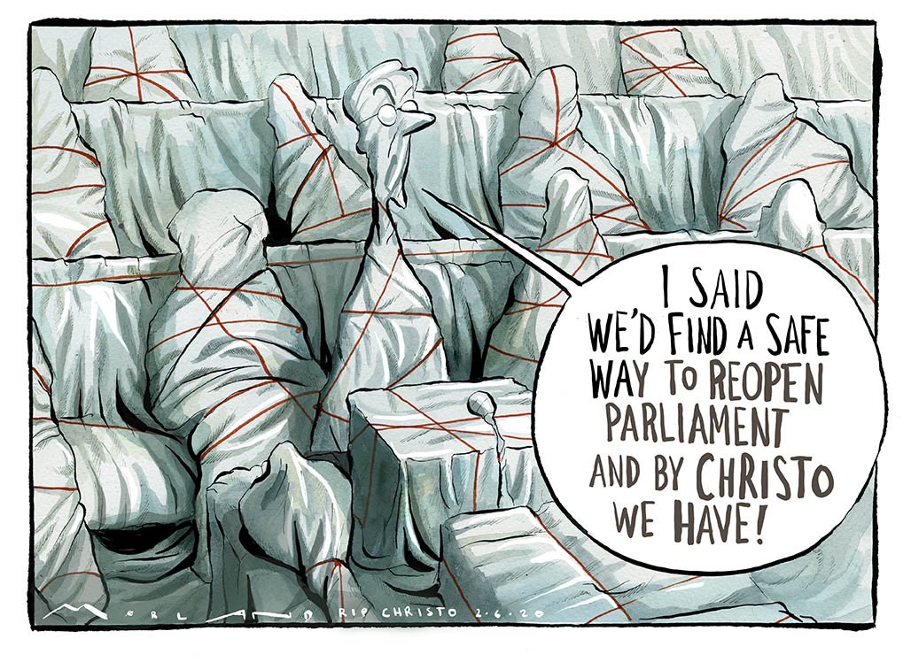 Today's @thetimes cartoon thetimes.co.uk/edition/commen… #Christo