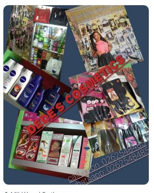 Dede's beads and cosmetics shop , we get anything there to enhance ur beauty. Just call any of the lines or WhatsApp on the airtle line  #ShattaTuesdayMarket https://t.co/M5CvxxPGVZ
