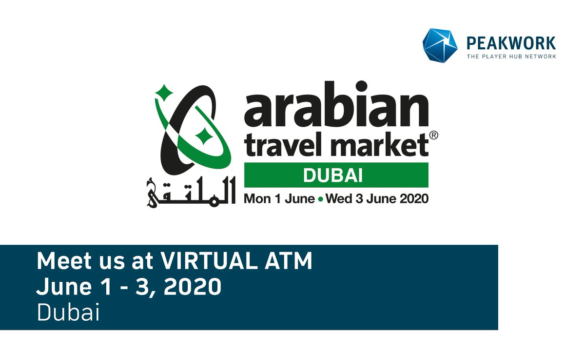 Meet us at virtual ATM in Dubai. Get in contact with sales@peakwork.com to set up an appointment. #arabiantravelmarket #tourism #meetushere #virtualconference https://t.co/RIExM7ctrk