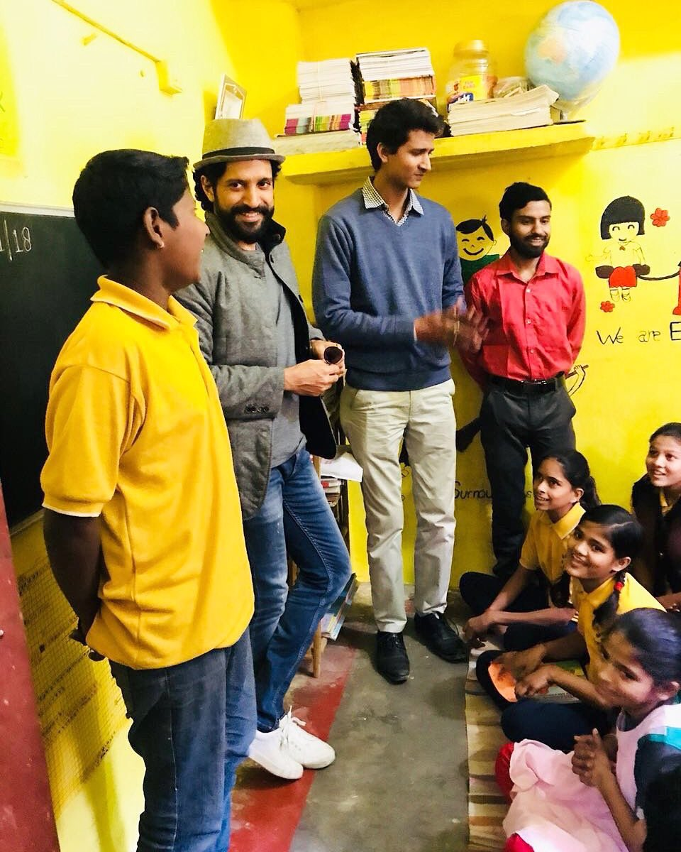 The kids had a blast when actor, Farhan Akhtar paid a visit to the NGO, where we sponsor the education of these little ones, free of cost. Days like these, shoot up the morale of children and inspire them to work harder. #farhanakhtar #bollywood #actor #indianactor #movies #ngopic.twitter.com/7KqQI2g3Bp