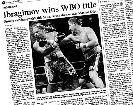 Sultan Ibragimov won the WBO world heavyweight title #OnThisDay in 2007 with a 12-round unanimous decision over Shannon Briggs at the Boardwalk Hall in Atlantic City, New Jersey.