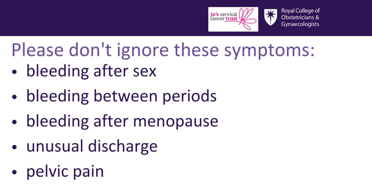 Cervical screening may be postponed in much of the UK, but help is still available if you have any new or troubling gynaecological symptoms, such as bleeding between periods or after sex. Contact your GP or gynaecologist with any concerns. Read: https://t.co/BiN07rZcCk @JoTrust https://t.co/yjsrRx6uHq