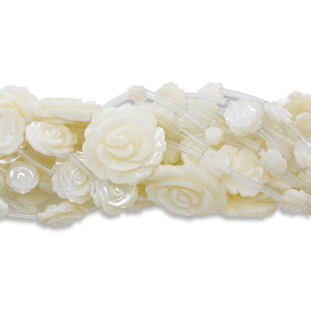 Natual White Shell Rose Beads Strand #whiteshell #rose #beads #jewelry #jewellery #accessories #jowele #beadsstrand #jewelrymaking #decorations #whiterose #jewelryshop #fashion #style #art #craft #jewelrycraft