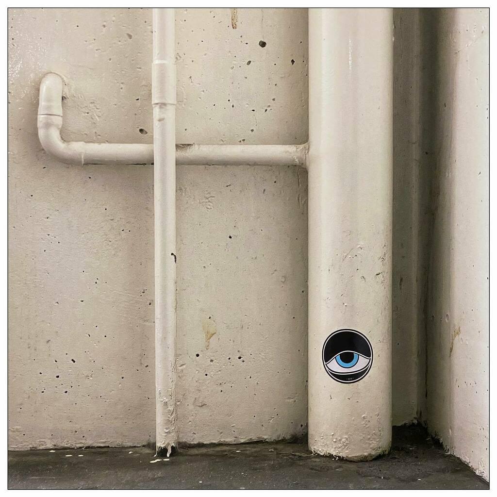 #sleepy #eye #stuck in the #corner of a #carpark #Hobart #Tasmania #photooftheday #iphoneonly