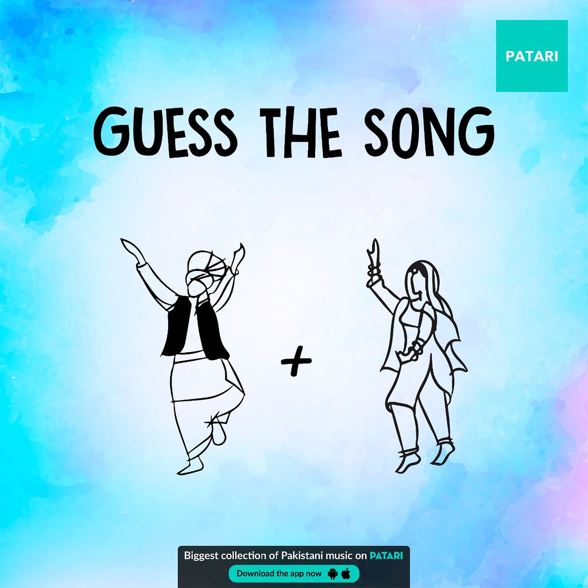 Yaaaayyy!!! We are back with Guess the Song doodles after a long break! To bataein phir which song topped our desi chart shows in early 90s? Clues on patari.pk #PatariDoodle #MeraMusic #MeriPatari #GuessTheSong