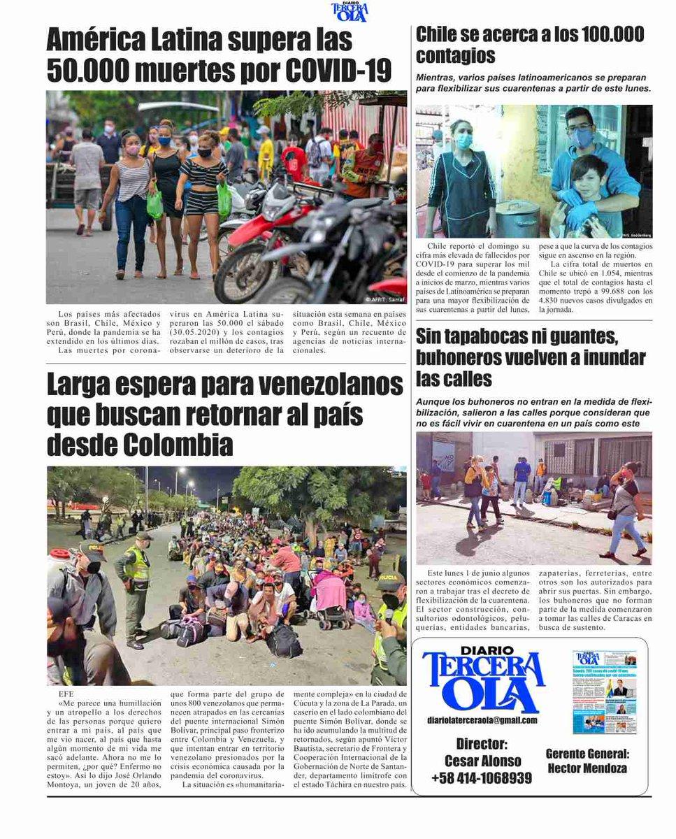 América Latina supera las 50.000 muertes por COVID-19  Los países más afectados son Brasil, Chile, México y Perú, donde la pandemia se ha extendido en los últimos días. pic.twitter.com/QG3GE1PH3S