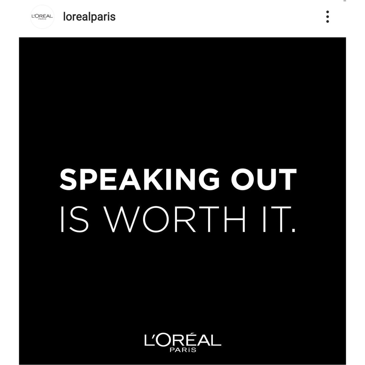 @Loreal seriously! PR stunt we know your history! #loreal #hairandbeauty #history   https://t.co/31kcQE0sbs https://t.co/eeVunC91n7