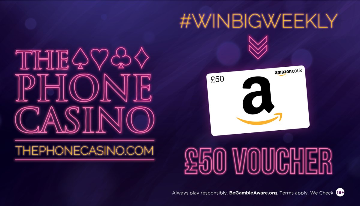 For a chance to win £50 Amazon Voucher! - Like THIS Post - Retweet THIS Post - Follow The Phone Casino  Comp ends Thurs 4th @ Midnight. Winner announced Friday.   T&Cs apply:  http:// bit.ly/2SzKqfP    . (account required)  #giveawayalert #FreeMoney #freebies<br>http://pic.twitter.com/dX4JtQm1Xf