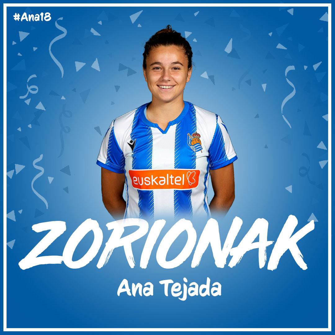 🎂 ¡Hoy es el cumpleaños de @anatejaadaa!  🎂 Zorionak Ana! 🎉  💬 ¡Felícitala!  #AurreraReala https://t.co/GCm5rpDKDc