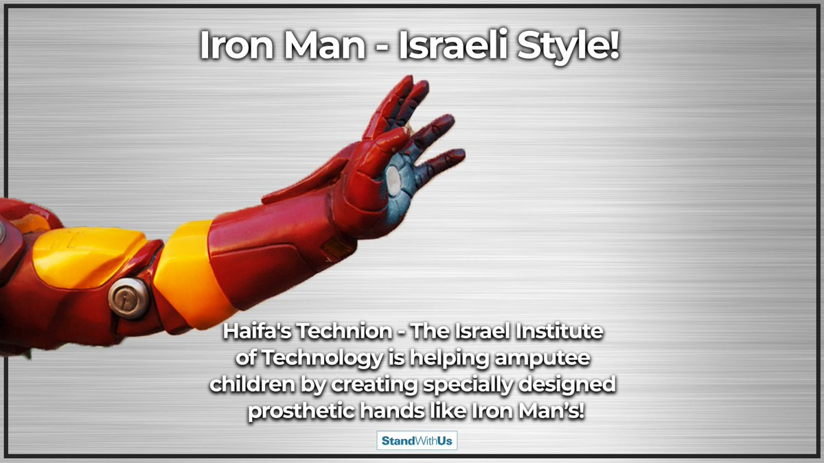 I am Iron Man! Scientists at the Haifa Technion - The Israel Institute of Technology are helping amputee children by creating customized prosthetic hands using 3-D printing technology.